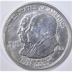 1923-S MONROE COMMEM HALF DOLLAR  AU/BU