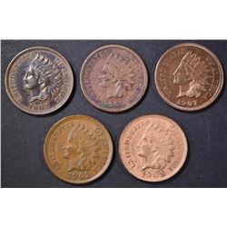 5 INDIAN CENTS