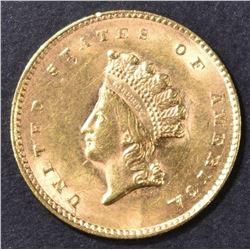 1855 GOLD DOLLAR  BU