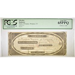 1838 $1 OBSOLETE BANKNOTE  PCGS 65 PPQ