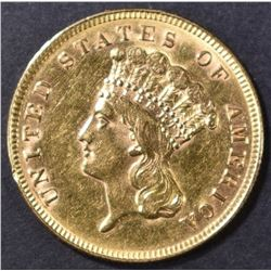 1888 $3 GOLD INDIAN PRINCESS BU  CLEANED