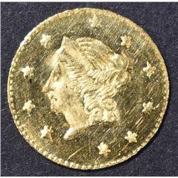 1871 ROUND CALIFORNIA GOLD HALF DOLLAR  BU