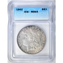 1902 MORGAN DOLLAR ICG MS-64