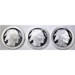 3-1oz SILVER INDIAN/BUFFALO STACKABLE ROUNDS