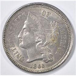 1865 3-CENT NICKEL  CH BU
