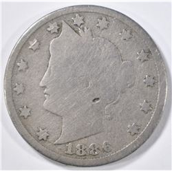 1886 LIBERTY NICKEL  G-VG