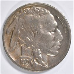 1927-S BUFFALO NICKEL  AU/UNC