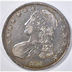 1834 BUST HALF DOLLAR  CH AU