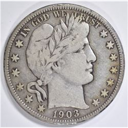 1903-O BARBER HALF DOLLAR  VF