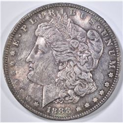 1888 MORGAN DOLLAR  GEM UNC   COLOR!!
