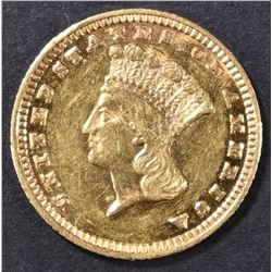 1884 $1 GOLD INDIAN PRINCESS  BU PL