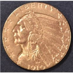 1910-S $5 GOLD INDIAN  CH/GEM BU