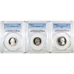 3- PCGS GRADED COINS ALL PR69DCAM