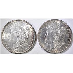 1883 & 81-S MORGAN DOLLARS BU