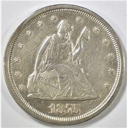 1875-S LIBERTY SEATED TWENTY CENT AU/BU