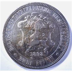 1893 GERMAN EAST AFRICA 2 RUPIEN, VF