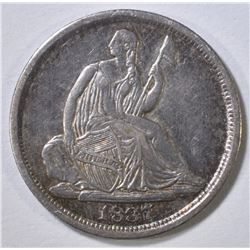 1837 SEATED LIBERTY HALF DIME AU