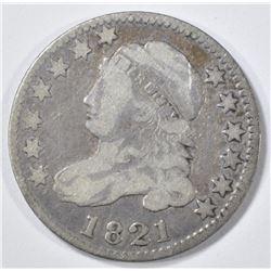 1821 BUST DIME VF