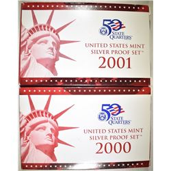 2000 & 2001 U.S. SILVER PROOF SETS