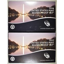 2017 & 18 U.S. SILVER PROOF SETS