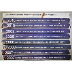 U.S. MINT PRESIDENTIAL DOLLAR PROOF SETS: