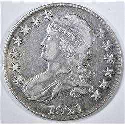 1821 BUST HALF DOLLAR, AU
