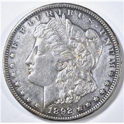 1892-CC MORGAN DOLLAR CH AU