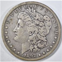 1892-S MORGAN DOLLAR VF