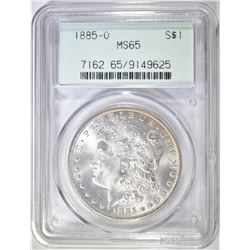 1885-O MORGAN DOLLAR   PCGS MS-65 OLD GREEN HOLDER