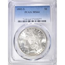 1882-S MORGAN DOLLAR   PCGS MS-64