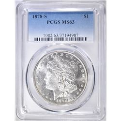 1878-S MORGAN DOLLAR   PCGS MS-63