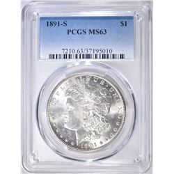 1891-S MORGAN DOLLAR  PCGS MS-63