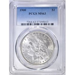 1900 MORGAN DOLLAR  PCGS MS-63