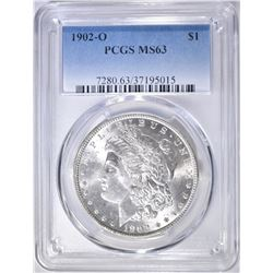 1902-O MORGAN DOLLAR  PCGS MS-63
