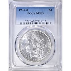 1904-O MORGAN DOLLAR PCGS MS-63