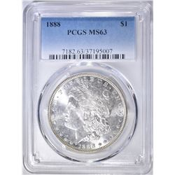 1888 MORGAN DOLLAR   PCGS MS-63