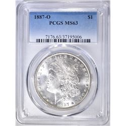 1887-O MORGAN DOLLAR  PCGS MS-63