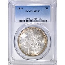 1884 MORGAN DOLLAR  PCGS MS-63