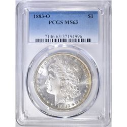 1883-O MORGAN DOLLAR  PCGS MS-63