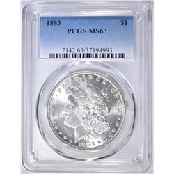 1883 MORGAN DOLLAR  PCGS MS-63