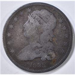 1835 BUST QUARTER, VF