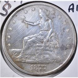 1877-S TRADE DOLLAR AU CLEANED