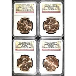 2008 FIRST SPOUSE BRONZE MEDAL SET NGC GRADED: