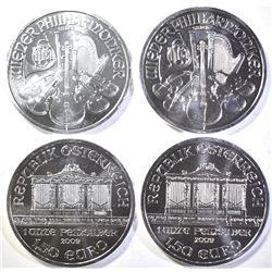 4-2009 AUSTRIAN 1oz SILVER PHILHARMONIC COINS