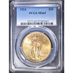 1924 SAINT GAUDENS GOLD, PCGS MS-65