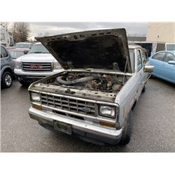 1988 FORD RANGER XLT, 2DR PU, SILVER, VIN # 1FTCR14T0JPA34610