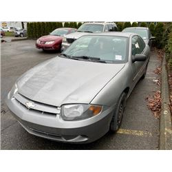 2004 CHEVROLET CAVALIER, 2DR COUPE, SILVER, VIN # 3G1JC12F74S114426