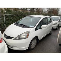 2009 HONDA FIT, 4DR HATCHBACK, WHITE, VIN # JHMGE88529S803813