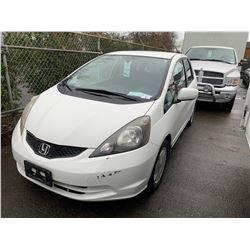 2009 HONDA FIT, 4DR HATCHBACK, WHITE, VIN # JHMGE88529S813127
