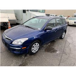 2011 HYUNDAI ELANTRA TOURING, 4DR SEDAN, BLUE, VIN # KMHDB8BE2BU096501